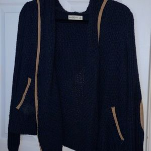Dark blue cardigan w/ hood